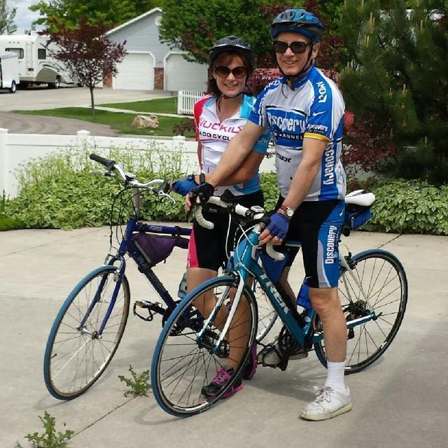 Biking with dad