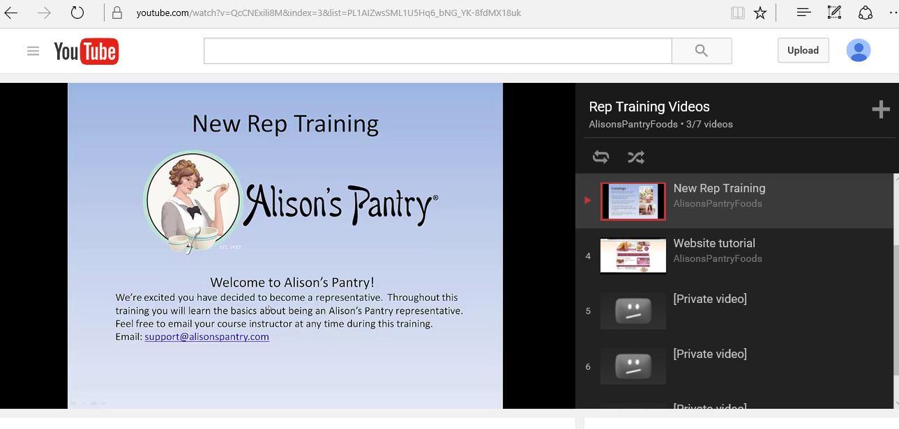 New Rep Training Snapshot