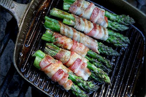 baconwrapped asparagus