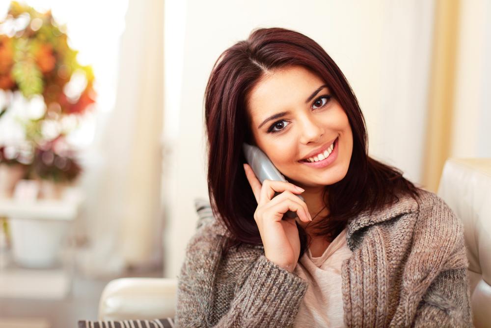 woman on phone shutterstock_129396746
